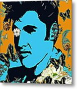 Flowers For The King Of Rock And Roll Metal Print