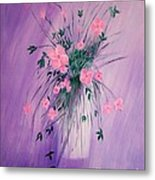 Flowers From The Field Metal Print