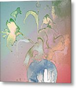 Flowers Ghosts Metal Print