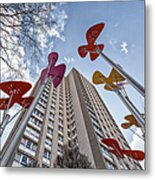 Flowers Glasgow Metal Print