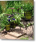 Flowers Home From The Market  Metal Print