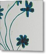 Flowers In A Jade Vase Metal Print