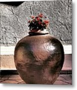 Flowers In A Pot Metal Print