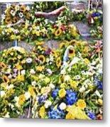 Flowers in Brugge Metal Print