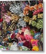 Flowers In Florist Metal Print
