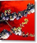 Flowers In Red Metal Print