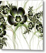 Flowers In The Antique Look Metal Print