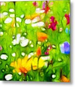 Flowers In The Garden Metal Print