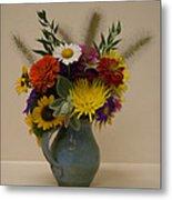 Flowers In Vase Metal Print