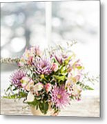 Flowers In Vase Metal Print