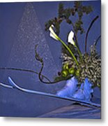 Flowers On Skis Metal Print