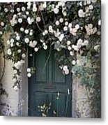 Flowers On The Door Metal Print