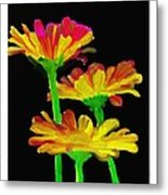 Flowers Quick Strokes Metal Print