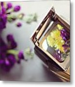 Flowers Thru A Lens Metal Print