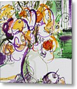 Flowers With Purple Hint Metal Print by Becky Kim