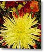 Flowers Yellow Metal Print