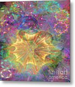 Flowerworks - Square Version Metal Print