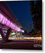 Flowing Curve Metal Print