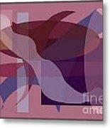 Flowing Geometry1 Metal Print by Meenal C