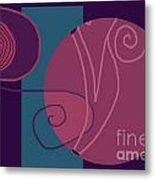 Flowing Geometry3 Metal Print