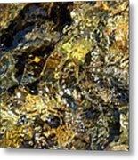 Flowing Gold Metal Print