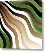 Flowing Graphic Metal Print