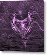 Flowing Heart Metal Print