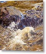 Flowing River Rapids Metal Print