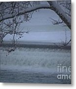 Flowing Through Ice Metal Print