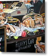 Fluffy's Cafe Metal Print