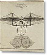 Flugmashine Patent 1807 Metal Print