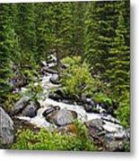 Fluid Motion - Crazy Woman Canyon - Crazy Woman Creek - Johnson County - Wyoming Metal Print