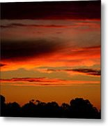 Fluorescent Sunset Metal Print