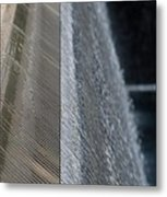 Fluted Water Metal Print