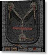 Flux Capacitor Mosaic Metal Print