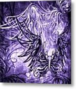 Fly Away Gothic Grape Metal Print
