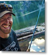Fly Fishing Emerald Lake, Weminuche Metal Print