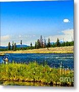 Fly Fishing In Yellowstone Metal Print