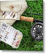 Fly Fishing Rod And Asessories Metal Print