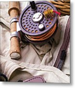 Fly Fishing Still Life Metal Print