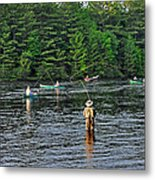 Fly Fishing West Penobscot River Maine Metal Print