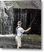 Fly Fishing Without Flies Metal Print