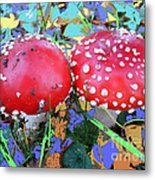 Fly-fungus With Blue Leaves By M.l.d.moerings 2009 Metal Print