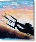 Flyin' Kiteboarder Metal Print