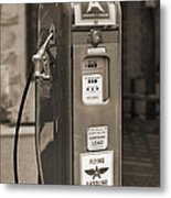 Flying A Gasoline - National Gas Pump 2 Metal Print by Mike McGlothlen