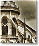 Flying Buttress At Notre Dame Metal Print
