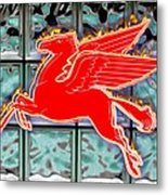 Flying Fire Horse Metal Print
