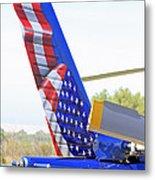 Flying Flag Metal Print