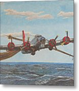 Coming Home - Boeing B-17 Flying Fortress Metal Print