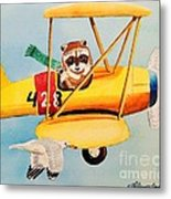 Flying Friends Metal Print